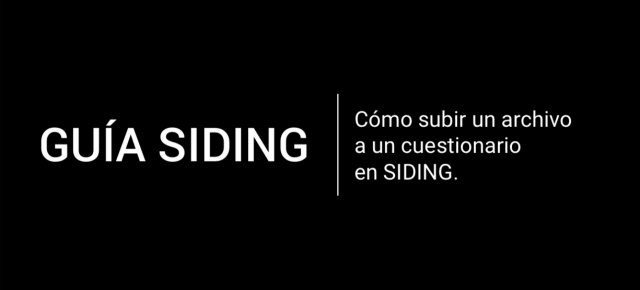 TUTORIAL USO SIDING